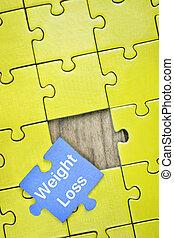 problem, med, ord, viktförlust