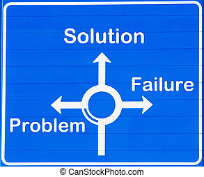 """Problem or solution - """"Problem, solution or failure"""" road ..."""
