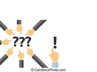 problem solution concept , think different concept