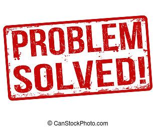 Problem solved stamp - Problem solved grunge rubber stamp on...