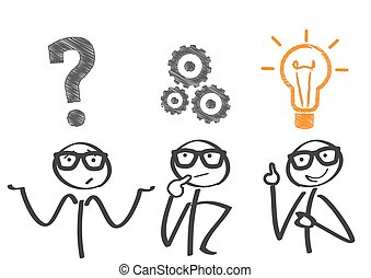 Problem-solving and implementation - Thinking. Businessman ...