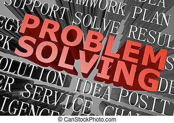 Problem solving word cloud