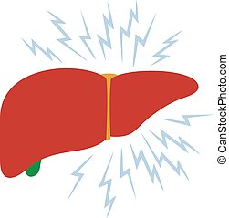 problem with liver vector illustration