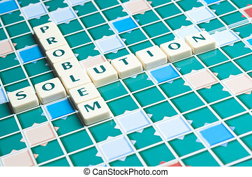 Problem word made by letter pieces