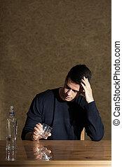 problema, de, adicción de alcohol