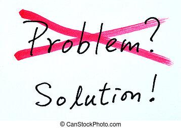 problema, e, solução