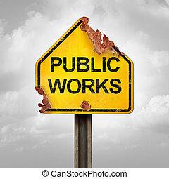 problema, lavori in corso, pubblico