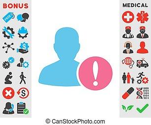 problema, paciente, ícone