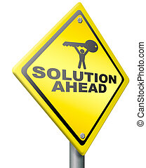 problema resolve, solução, à frente