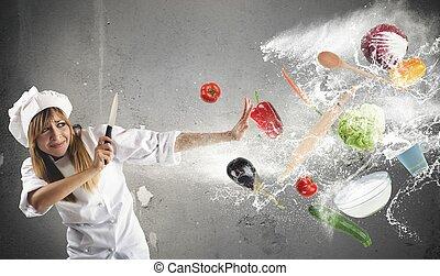 problemas, cozinha