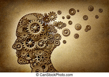 problemas, demência, cérebro