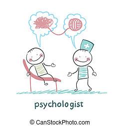 problemas, psicólogo, dice, paciente, solve