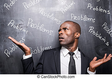 problemen, alles, ongeveer, me., terneergeslagen, afrikaanse...
