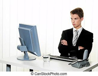 problemen, met, computer