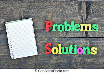 Problems and Solutions on wooden table