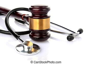 procès, concept, monde médical
