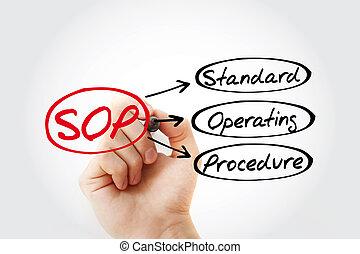 procédure, -, norme, acronyme, sop, opération