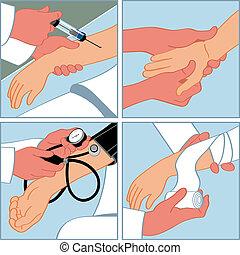 procédures médicales, main