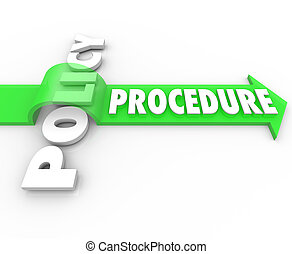 Procedure Arrow Jumping Over Policy Word Practice Process -...