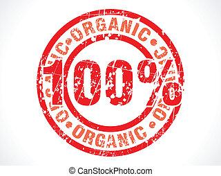 procent, honderd, organisch, abstract
