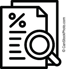 Procent paper icon, outline style - Procent paper icon....