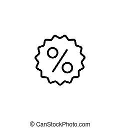 procent, tło, kreska, odznaka, biały, ikona