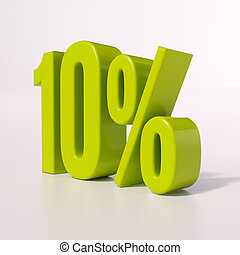 procentdel underskriv, 10, cents per