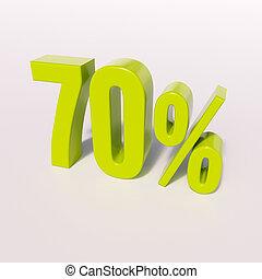 procentdel underskriv, 70, cents per