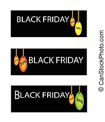 procentsatser, fredag, försäljning, etikett, rabatt, svart