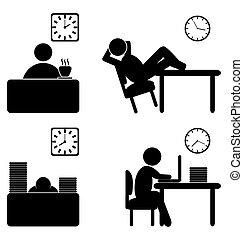 proces, arbejde, iconerne