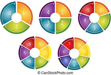proces, diagram, cyclus, zakelijk