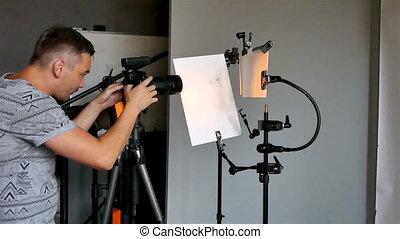 proces, fotografia, polowanie, studio