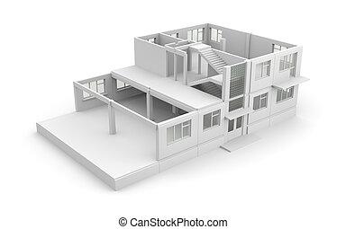 proces, huizenbouw