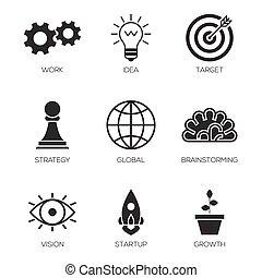 proces, ikoner branche