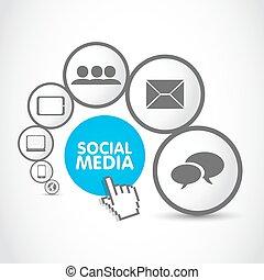 proces, media, groep, sociaal