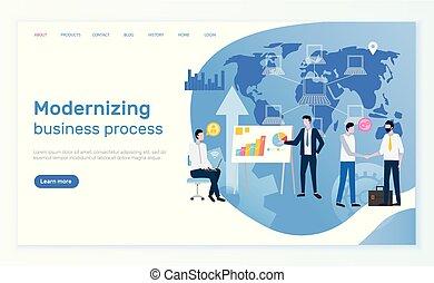 proces, modernizing, netværk, folk branche