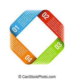 proces, origami, cyclus
