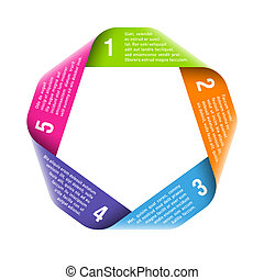 proces, origami, elemen, ontwerp, cyclus