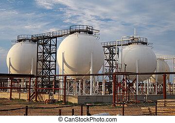 procesamiento, gas, plant.