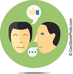 proceso, comunicación, concepto