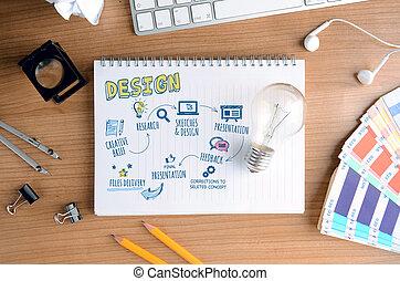 proceso, concepto, diseño, creativo
