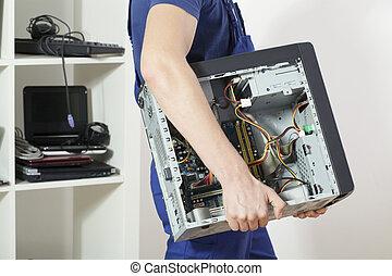 proceso de llevar, computadora