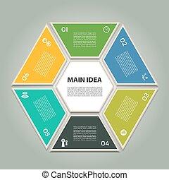 proceso, diagrama, vector, ciclo
