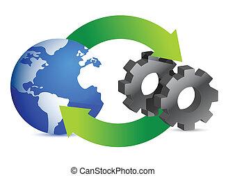 proceso, empresa / negocio, diagramas