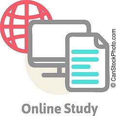 proceso, representación, aprendizaje, esquemático, en línea