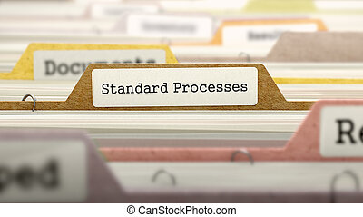 procesos, concepto, label., archivo, estándar