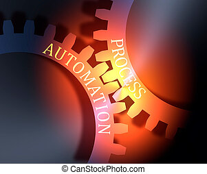 Process and Automation text on the Gears.