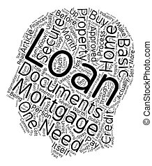 Process And Eligibility To Secure A Home Mortgage Loan text background wordcloud concept