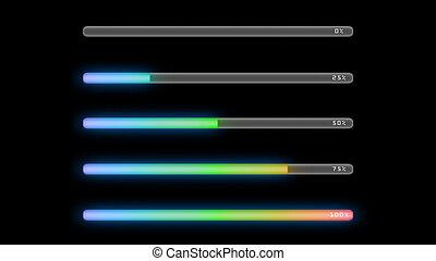 process bar color gradient dark