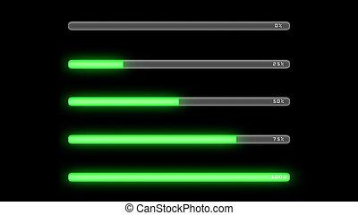 process bar green dark